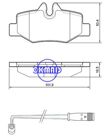MERCEDES-BENZ  Brake pad FMSI:8828-D1615 OEM: 001 421 10 10 WVA:24008, F1615