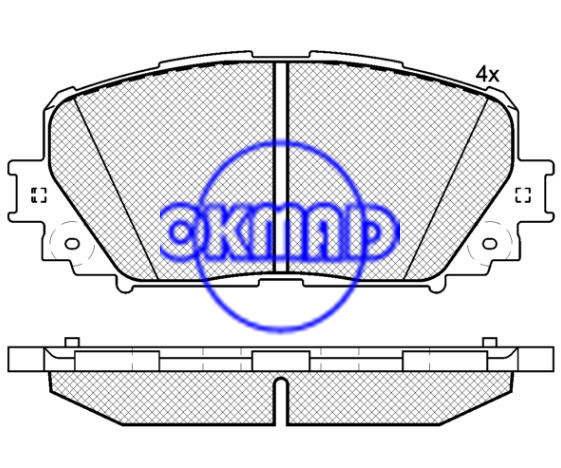 Toyota Brake pad FMSI:8845-D1628 OEM: 04465-52270 WVA:24708 F1628