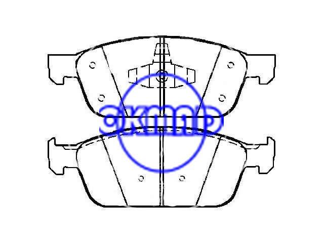 FORD TRUCK Brake pad FMSI:8873-D1645 OEM: CV6Z-2001-B, F1645