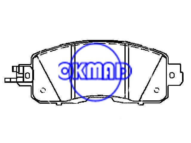 NISSAN Altima NISSAN Leaf 2014-201 Brake pad set FMSI:8878-D1650 OEM: D1060-3TA0A