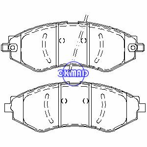 CHEVROLET Aveo Aveo5 Optra Spark Lanos PONTIAC G3 Wave Wave5 SUZUKI Forenza Reno brake pad FMSI:7779-D1035/7779-D902 OEM:S4510019,F1035