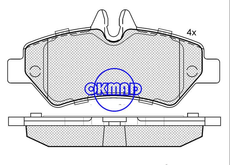 MERCEDES BENZ SPRINTER 3-t 3,5-t VW CRAFTER DODGE TRUCK Sprinter brake pad FMSI:8431-D1317 OEM:004 420 69 20 WVA:29190, F1317