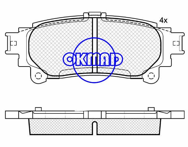 LEXUS RX350 RX450h TOYOTA Highlander Sienna brake pad set FMSI: 8500-D1391/9084-D1391 OEM:04466-0E010/04466-30290/04466-47070/04466-48130 WVA:24918, F1391
