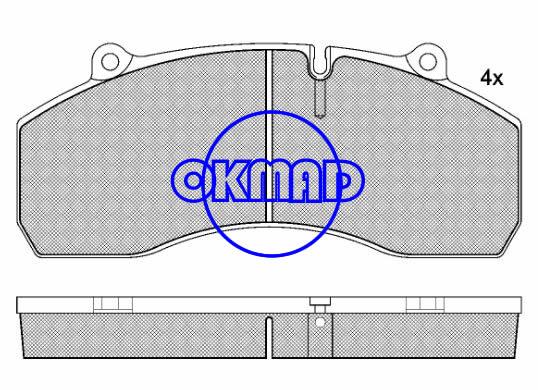 SCANIA 4-series brake pad FMSI:D1441-8577,OEM:976003N,WVA29120,FDB1901,F1441
