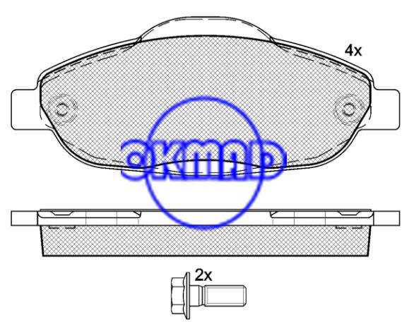 PEUGEOT 3008/308 CC brake pad set FMSI:8922-D1696 OEM: 1613259380/4253.93/4254.26 WVA24660,F1696