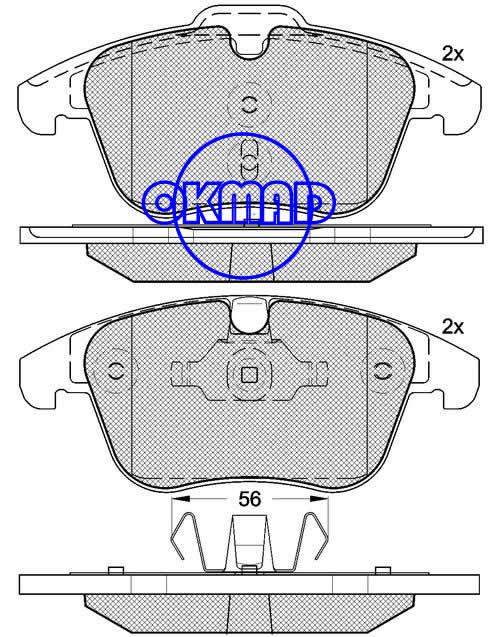 VOLVO S60 s80 v70 xc70, Ford Galaxy Mondeo S-Max,Land Rover LR2 Range Rover brake pad set FMSI:8421-D1306 OEM:1 379 971 WVA:24123,F1306