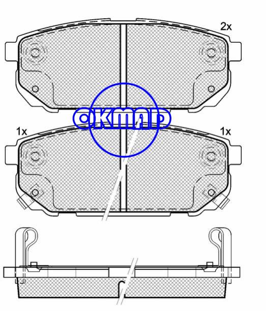 KIA Sorento (Latin America)  Brake pad set FMSI:8379-D1261 OEM:58302-3ED00 WVA:23931/24058,F1261