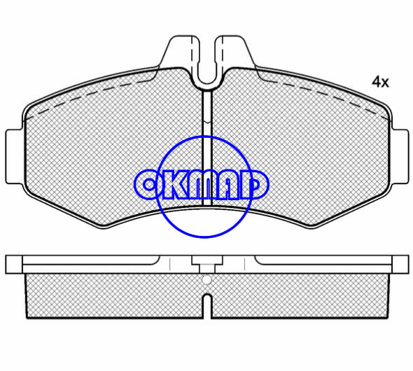 MERCEDES BENZ V-CLASS VITO Box bus brake pad FMSI:8371-D1253 OEM:000 421 41 10 WVA:23022,F1253