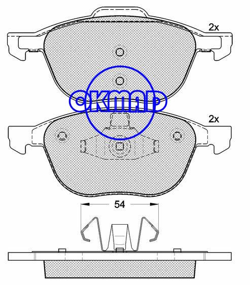 FORD FOCUS C-MAX TRANSIT MAZDA 3 5 VOLVO C30 C70 S40 V50 brake pad FMSI:7947-D1230/7947-D1044 OEM:3068 3554 WVA:23723/23724/24139,F1230