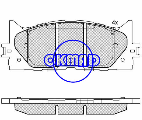 TOYOTA AURION CAMRY Avalon LEXUS ES300h ES350 brake pad FMSI:8331-D1222/8331-D1293 OEM:04465-06080 WVA:24350,F1222