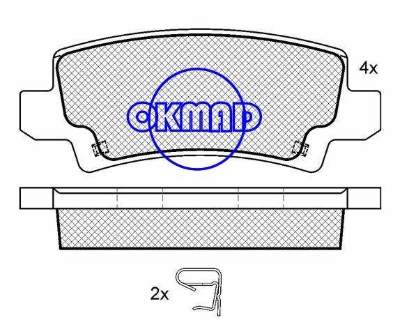TOYOTA Fielder RUNX COROLLA Combi  Verso brake pad FMSI:8336-D1216 OEM:04466-02020 WVA:23816 FDB1574,F1216