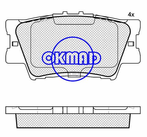 LEXUS ES HS TOYOTA AURION CAMRY RAV 4 brake pad FMSI:8332-D1212/8332-D1632 OEM:04466-33160 WVA:24338,F1212