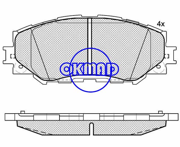 TOYOTA Corolla Rav4 MATRIX RUKUS URBAN VERSO WISH MPV YARIS/VITZ LEXUS HS250h brake pad FMSI:8330-D1210 OEM:04465-42160 WVA:24336,F1210