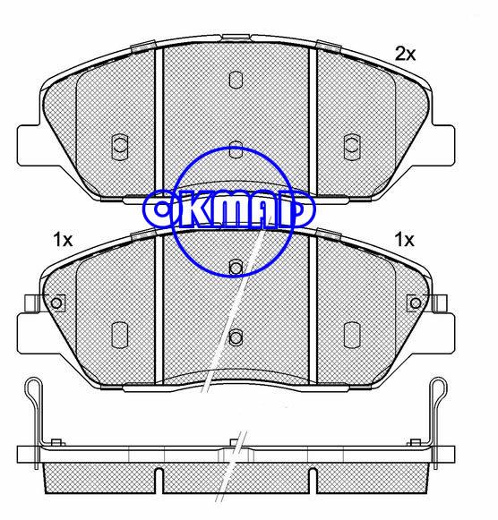 HYUNDAI GRAND SANTA Entourage KIA Sedona SORENTO SSANGYONG ACTYON KORANDO brake pad FMSI:8322-D1202/8400-D1202/8929-D1202/8400-D1384 OEM:58101-0WA00 WVA:24351,F1202