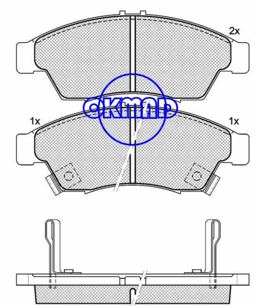 SUZUKI Aerio LIANA Estate SUZUKI (CHANGHE) LIANA Hatchback brake pad FMSI:8315-D1195 OEM:55810-54G00 FDB1533 WVA:23817/24034/24035,F1195