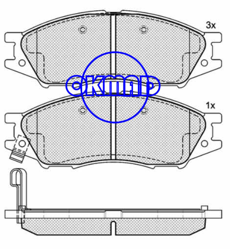 NISSAN Sunny B15 ALMERA II Hatchback (DONGFENG) SUNNY RENAULT Scala brake pad FMSI:8311-D1193 OEM:41060-6N091 TRW:GDB7043 WVA:24647/24648/24649,F1193