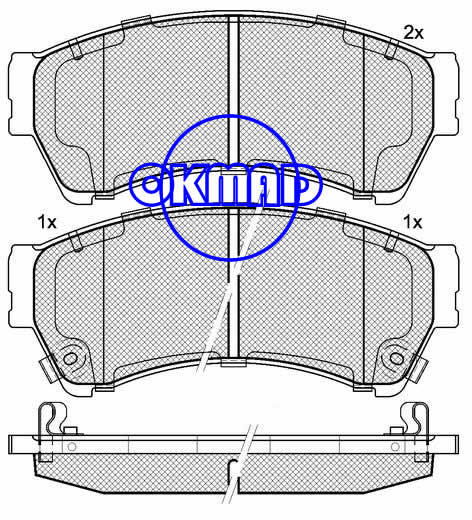 MAZDA 6 Estate Hatchback (FAW) 6 RUI YI brake pad FMSI:8277-D1192/8521-D1192 OEM:GSYD-33-23ZA WVA:24582,F1192