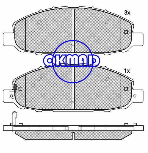 NISSAN CARAVAN URVAN Box brake pad FMSI:8310-D1191 OEM:41060-VW085,F1191