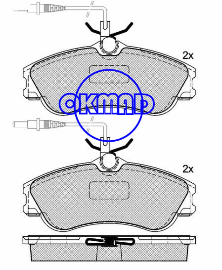 CITROEN BERLINGO Box XSARA Estate Coupe PEUGEOT 306 Break Convertible PARTNER Combispace RANCH Box brake pad FMSI:8309-D1190 OEM:4251.54 FDB1112 TRW:GDB1260 WVA:23124/23125,F1190