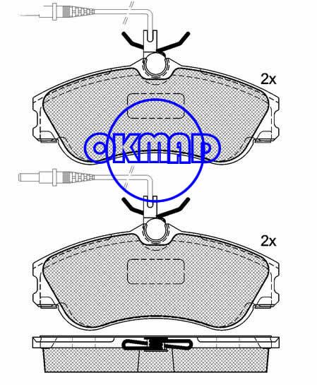 CITROEN BERLINGO Box XSARA Estate Coupe PEUGEOT 306 Break Convertible PARTNER Combispace RANCH Box brake pad FMSI:8309-D1190 OEM:4251.54 FDB1112 TRW:GDB1260 WVA:23124/23125,F1190