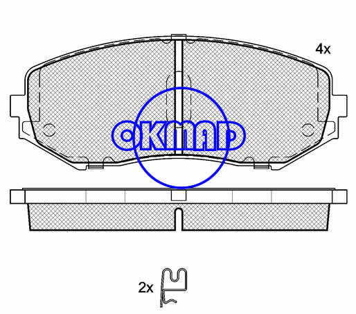 SUZUKI GRAND VITARA II brake pad FMSI:8307-D1188 OEM:55200-65J00 WVA:24346,F1188
