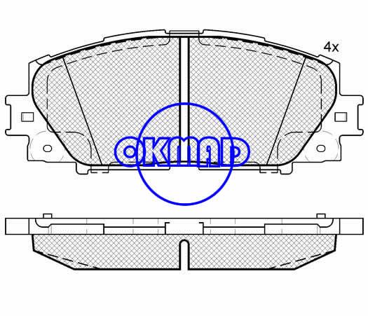 TOYOTA Prius YARIS/VITZ (FAW) VIOS ALLION II BELTA Saloon GREAT WALL TENGYI brake pad FMSI:8301-D1184 OEM:04465-52180 WVA:24347,F1184