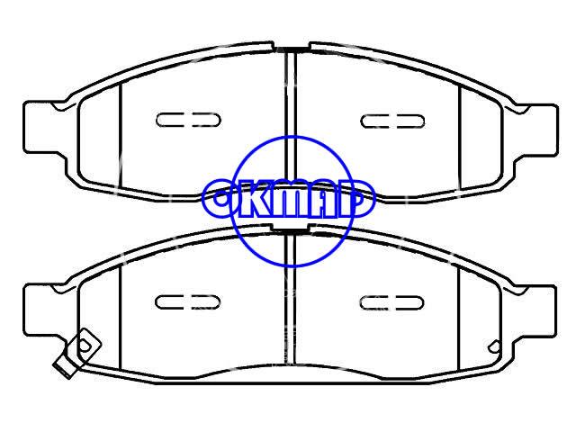 INFINITI QX56 NISSAN Armada NISSAN Titan brake pad FMSI:8300-D1183 OEM:41060-ZC025,F1183