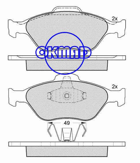 FORD TRUCK EcoSport FIESTA Box FUSION PUMA STREET KA MAZDA 2 brake pad FMSI:8289-D1175 OEM:M2N15-2K021-BA FDB1394 TRW:GDB1419 WVA:23202/23203/23604,F1175