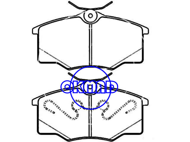 VW (SVW) GOL Pointer OPEL CORSA B Box VAUXHALL CORSAVAN brake pad FMSI:8284-D1173 OEM:1605021 93257112 FDB1385 TRW:GDB1759 WVA:23546/23547,F1173