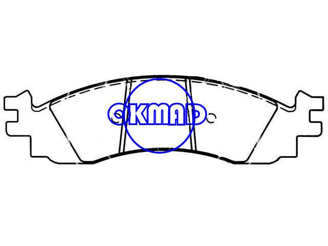 FORD TRUCK Explorer Sport Trac USA EXPLORER MERCURY Mountaineer brake pad FMSI:8268-D1158 OEM:6L2Z-2001-A,F1158