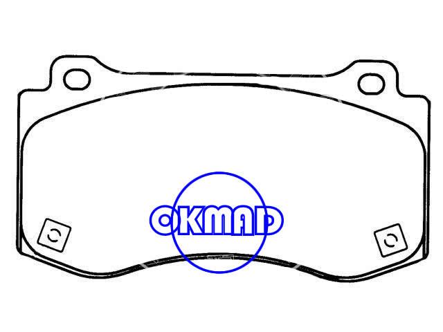 CHRYSLER 300 DODGE Challenger Charger JEEP Grand Cherokee III brake pad FMSI:8259-D1149/8415-D1149 OEM:05174311AB WVA24075,F1149