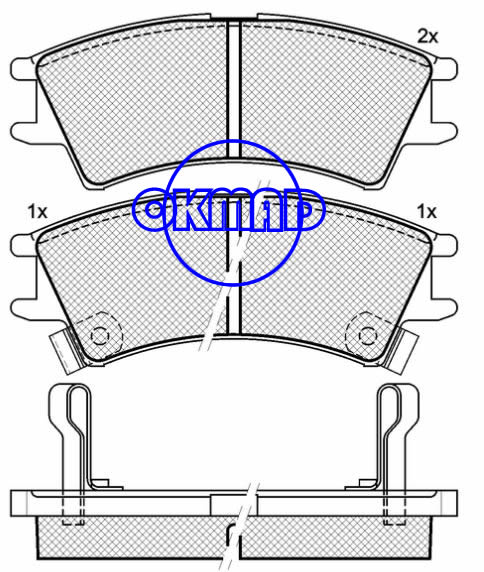 HYUNDAI ATOS PRIME (MX) brake pad FMSI:8256-D1148 OEM:58101-02A00 FDB1326 TRW:GDB3165 WVA23238/23239/23240,F1148