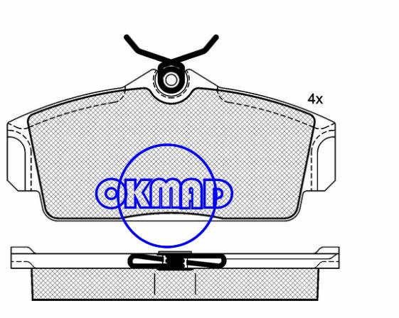 NISSAN ALMERA II Hatchback Primera 16V Hatchback Traveller Brake pad FMSI:8257-D1147 OEM:41060-2F525 FDB1096 TRW:GDB3159 WVA:23093/23463,F1147