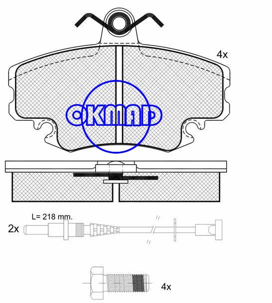 RENAULT CLIO I Sandero Stepway Clio 1.2 Brake pad FMSI:8256-D1146 OEM:60 00 008 126 FDB845 TRW:GDB400/GDB1465/GDB427 WVA:21404/21463/21472/21473,F1146