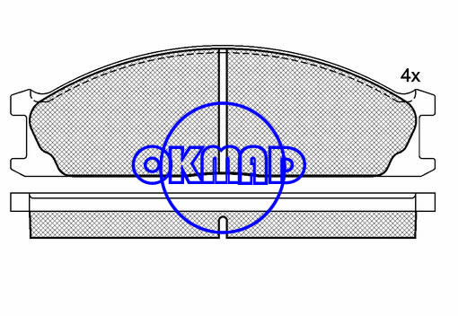 NISSAN D21 Frontier Pathfinder Pickup Terrano II VAN URVAN Box BUS Brake pad FMSI:7433-D1144/7228-D333 OEM:41000-10G08 FDB641 TRW:GDB1017 WVA:21347,F1144