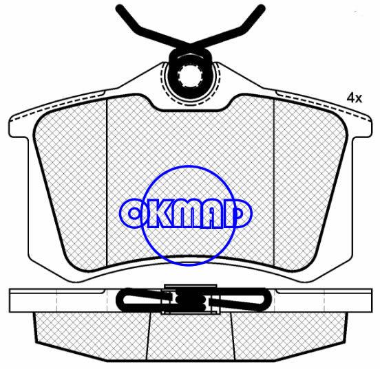 AUDI A4 A6 S6 TT RENAULT AVANTIME CLIO MEGANE SCéNIC Brake pad FMSI:8216-D1112/7773-D1112/9029-D1798 OEM:8E0 698 451 B FDB1491 FDB1770 TRW:GDB1360/GDB1467 WVA:23554,F1112