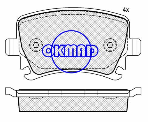 AUDI A3 A4 A6 R8 VW Golf Jetta Passat Rabbit Tiguan Brake pad FMSI:8213-D1108 OEM:1K0 698 451 FDB1636 TRW:GDB1551/GDB1622 WVA:23914,F1108
