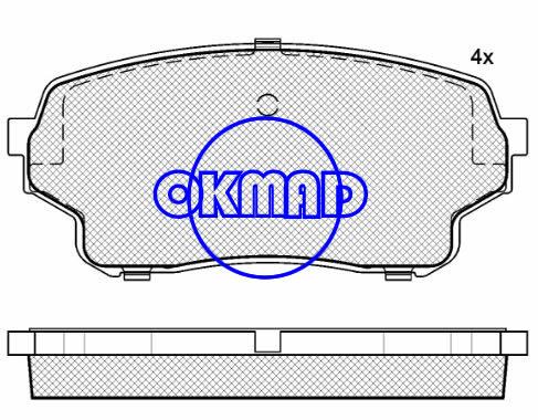 SUZUKI GRAND VITARA XL-7 Brake pad FMSI:8211-D1105 OEM:55200-50J01 FDB4077 TRW:GDB3490 WVA:24301,F1105