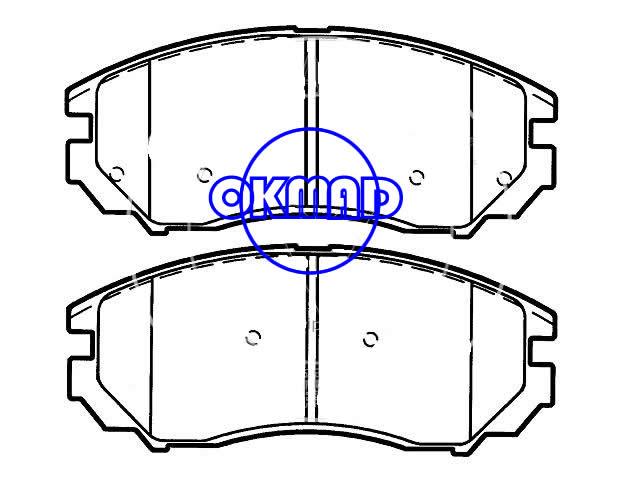 HYUNDAI Tiburon SE Brake pad FMSI:8210-D1104 OEM:58101-2CA0,F1104