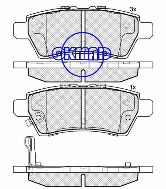 NISSAN Pathfinder Xterra NAVARA Тормозные колодки FMSI: 8204-D1101 OEM: 44060-EA090 WVA: 23482/24137, F1101