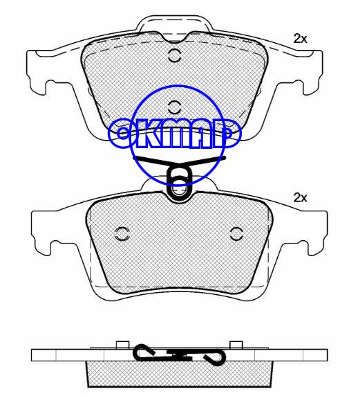 FORD Focus MAZDA 3 VOLVO C30 C70 S40 V50 Brake pad FMSI:7957-D1095 OEM:5W93-2200-AA FDB1931 WVA:24240,F1095