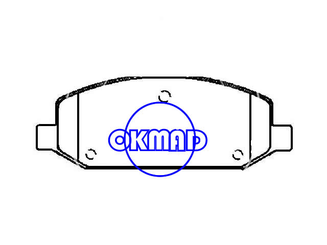 CHEVROLET (SGM) SAIL Hatchback Saloon GM SHANGHAI New Sail (China) Okmad Brake pad FMSI:8888-D1661 OEM:9041415,F1661