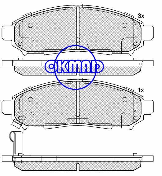 NISSAN PATHFINDER Xterra NAVARA SUZUKI Equator 4.0 Liter Brake pad FMSI:8200-D1094 OEM:41060-EA025 WVA:24277,F1094