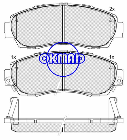 HONDA CIVIC Accord Crosstour CR-V Odyssey ACURA RDX AWD FWD Brake pad FMSI:7994-D1089/7994-D1521 OEM:45022-SHJ-A00 WVA:24342,F1089