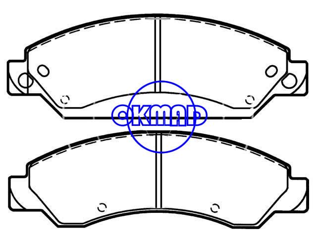 CHEVROLET TRUCK Avalanche Silverado Tahoe GMC Sierra Denali Yukon Brake pad FMSI:7997-D1092 D7997-D1380 OEM:89059119,F1092
