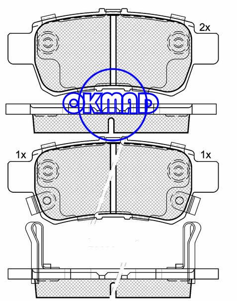 HONDA Odyssey Brake pad FMSI:7993-D1088 OEM:43022-SHJ-A00,F1088