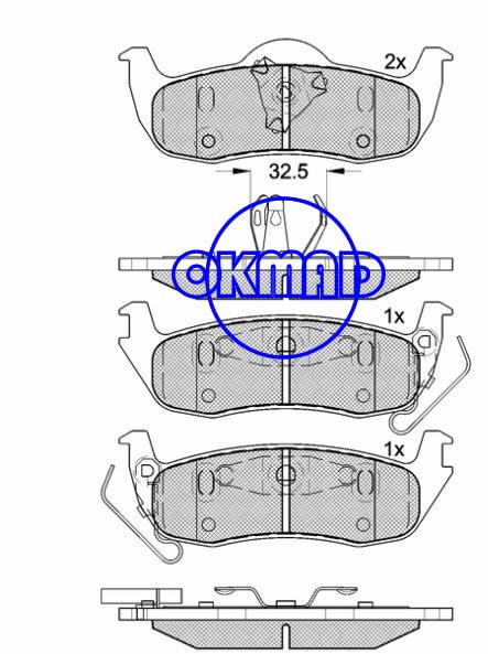 JEEP Commander Grand Cherokee II III Brake pad FMSI:7945-D1087 OEM:05080871AA WVA:24111/24258,F1087