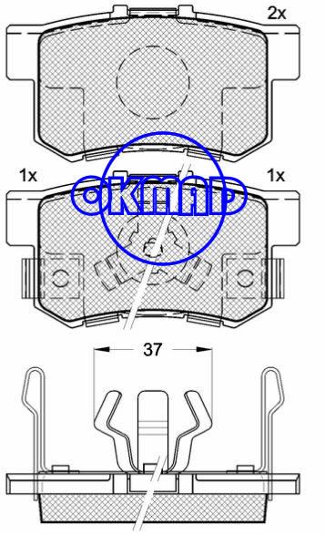 HONDA Accord Crosstour (DONGFENG) CR-V JADE MPV SPIRIOR ACURA RDX FWD Brake pad FMSI:7418-D1086 OEM:43022-S9A-010 WVA:24231/24434,F1086