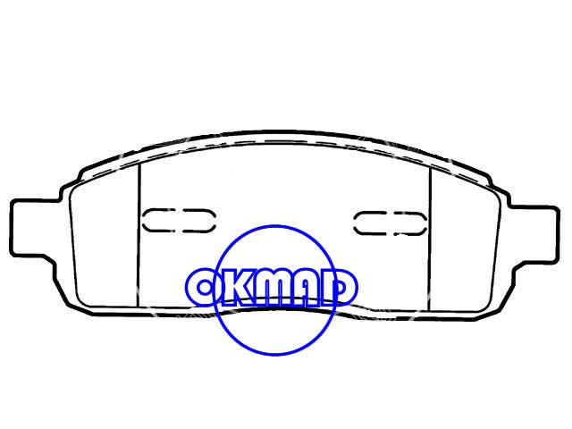 FORD TRUCK F-150 LINCOLN Mark LT Brake pad FMSI:7915-D1083/7915-D1011 OEM:4L3Z-2001-AB,F1083