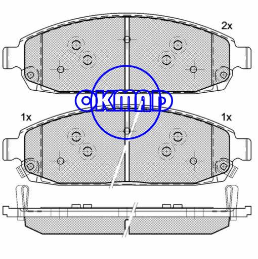 JEEP Grand Cherokee III Commander Brake pad FMSI:7985-D1080/8297-D1181 OEM:05080868AA FDB4002 TRW:GDB4136 WVA:24250/24251/24252,F1080